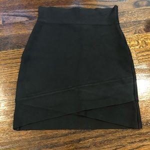 BCBGMAXAZRIA Black Bandage skirt